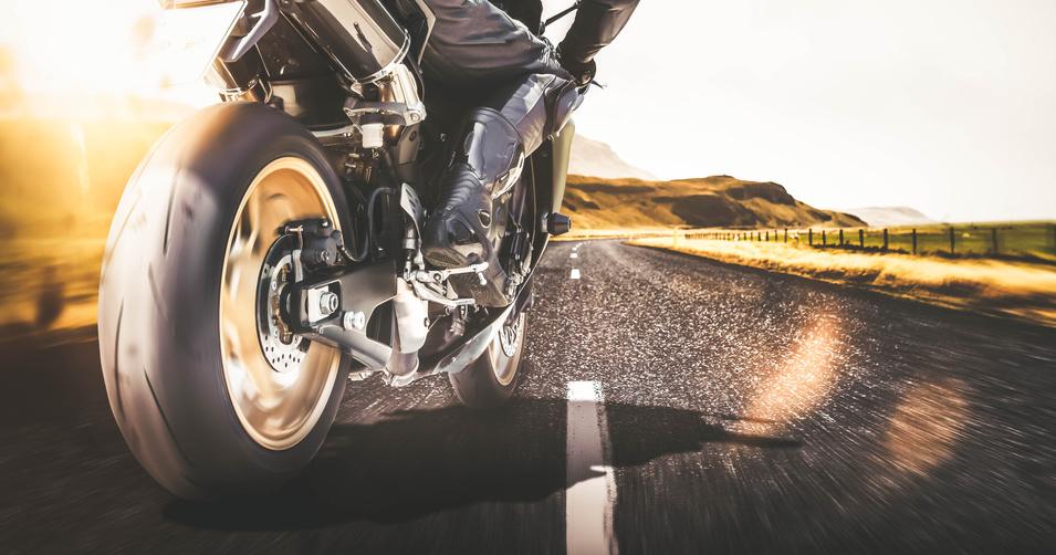 Road racing motorcycle