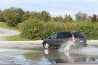 Aquaplaning di un'automobile