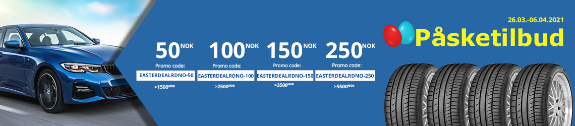 Rabattkode fra Dekkonline gir deg 250 kr i rabatt