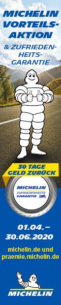 Kaufe jetzt einen Satz Michelin Aktionsreifen und profitiere von einem 20 EUR Tankgutschein oder der Zufriedenheitsgarantie.