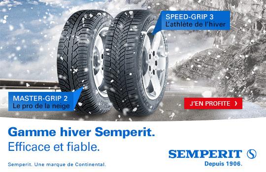 semperit pneus hiver, master-grip 2, speed-grip 3,