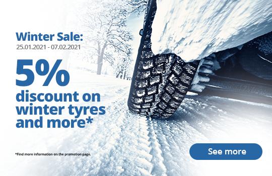 5% rabatt på hele Vinterdekk (inkl. Moto), Komplette hjul, Felger