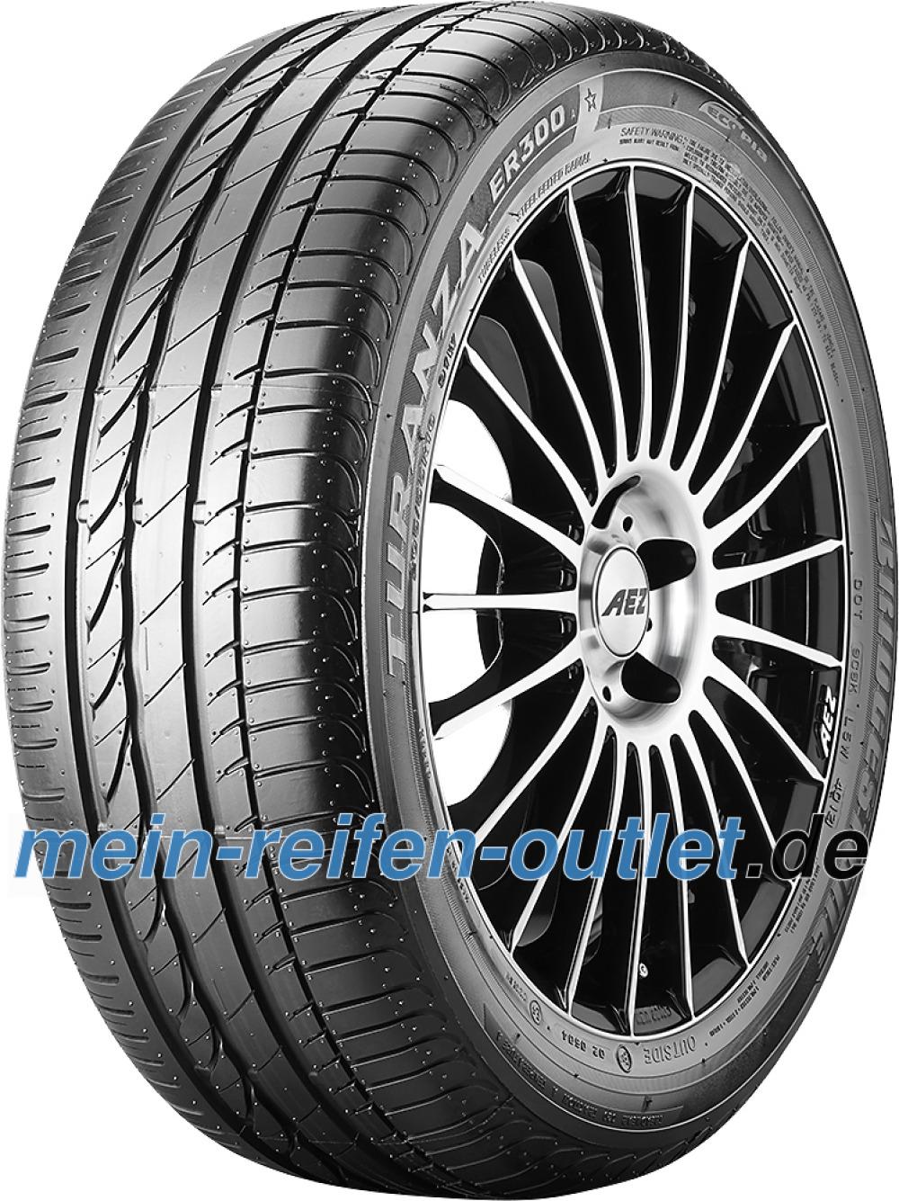 Bridgestone Turanza ER 300A Ecopia RFT ( 225/55 R16 95W *, mit Felgenschutz (MFS), runflat )