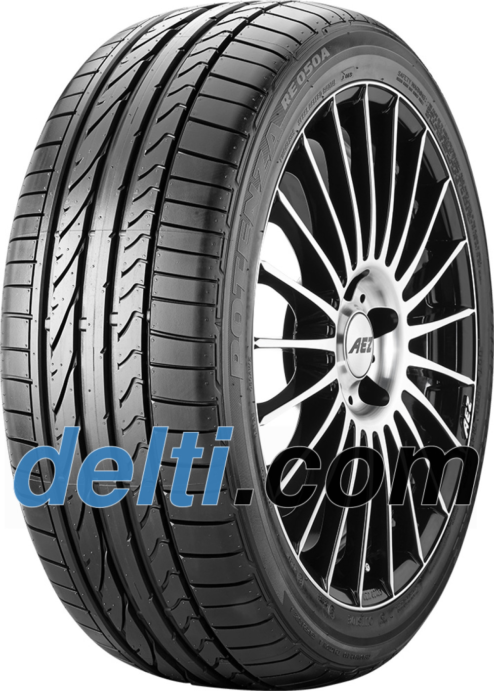 Bridgestone Potenza RE 050 A ( 205/45 R17 88W XL med fälg skyddslist (MFS) )