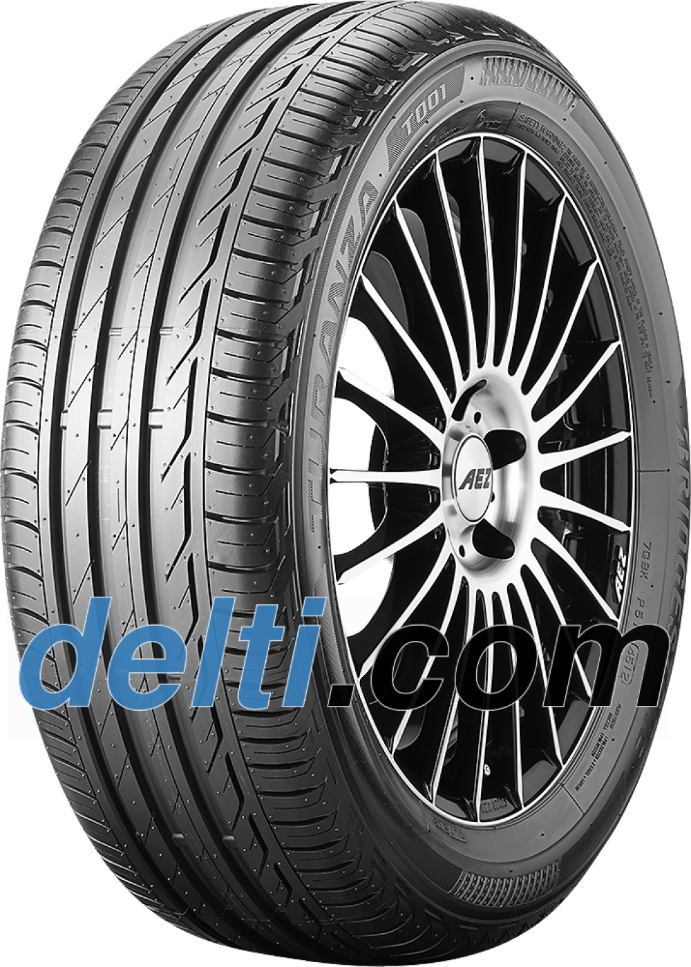 Bridgestone Turanza T001 ( 225/40 R18 92W XL med fælgbeskyttelse (MFS) )