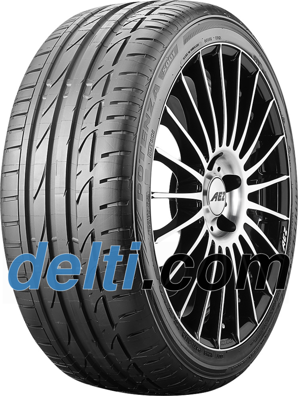 Bridgestone Potenza S001 ( 245/40 R20 99W XL *, met velgrandbescherming (MFS) )