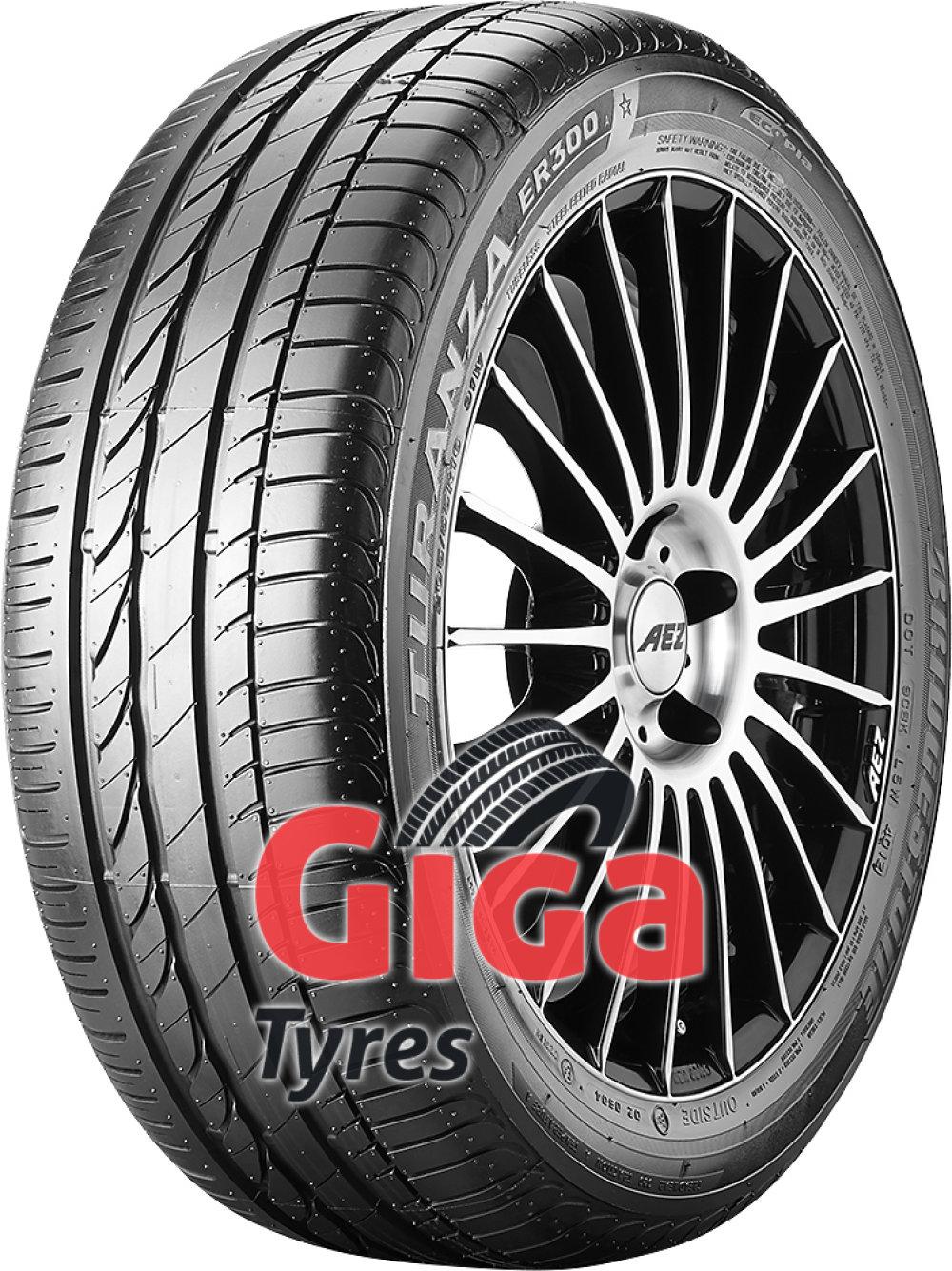 Bridgestone Turanza ER 300A Ecopia RFT ( 195/55 R16 87V *, with rim protection (MFS), runflat )