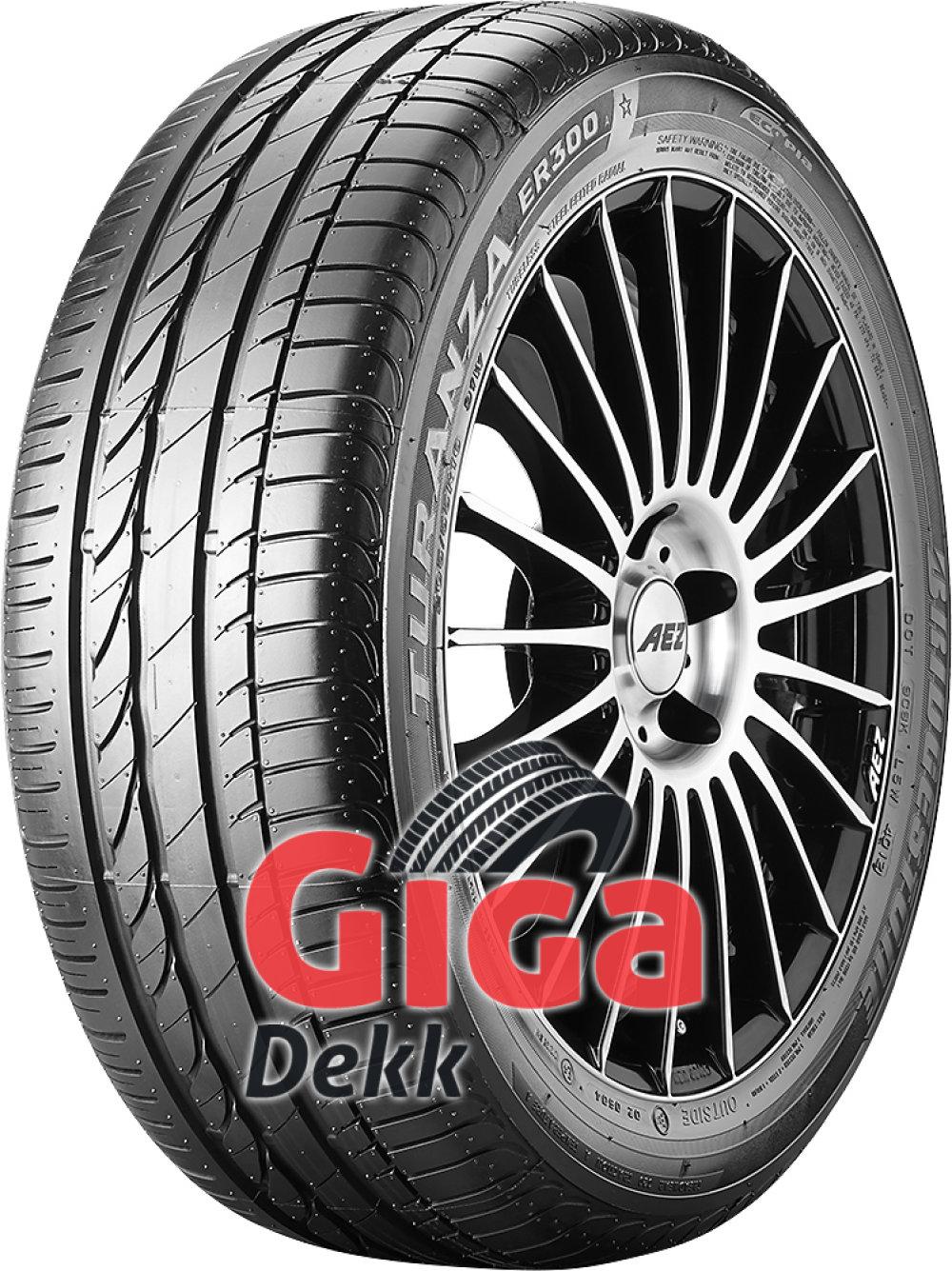 Bridgestone Turanza ER 300A Ecopia ( 205/55 R16 91W *, med felgbeskyttelse (MFS) )