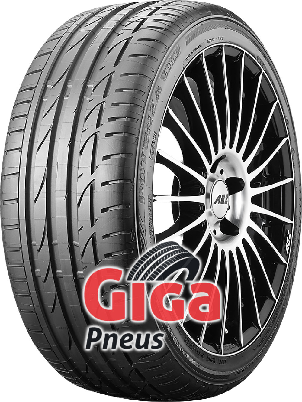 Bridgestone Potenza S001 RFT ( 255/45 R17 98W *, com protecção da jante (MFS), runflat )