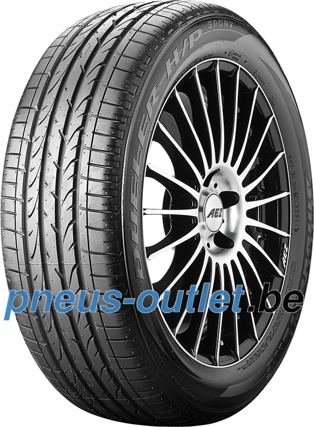 Bridgestone Dueler H/P Sport RFT ( 205/55 R17 91V runflat, *, avec protège-jante (MFS) )