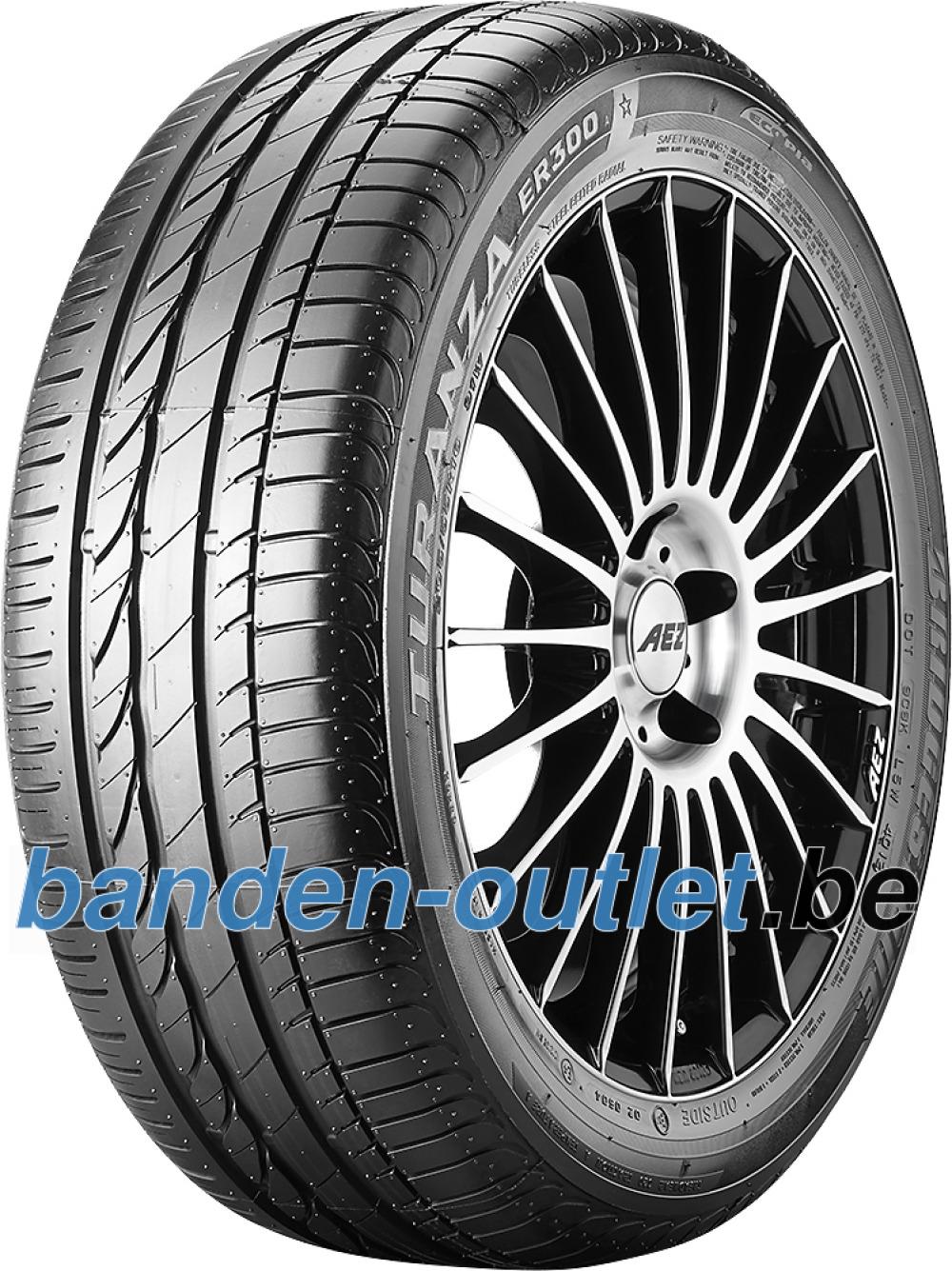 Bridgestone Turanza ER 300A Ecopia RFT ( 225/55 R16 95W runflat, *, met velgrandbescherming (MFS) )
