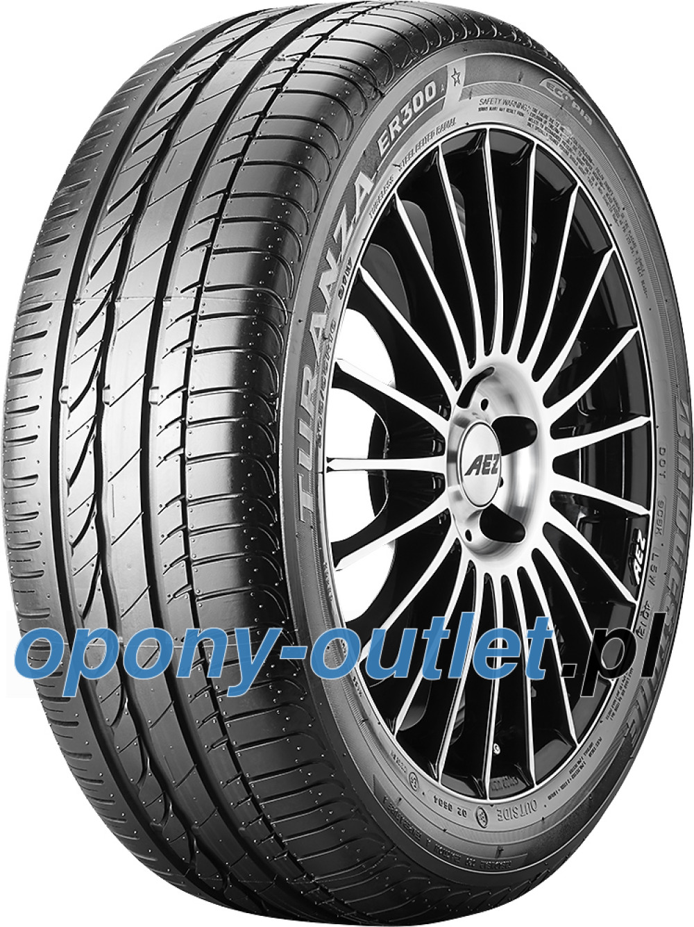 Bridgestone Turanza ER 300A Ecopia ( 205/60 R16 92W *, osłona felgi (MFS) )
