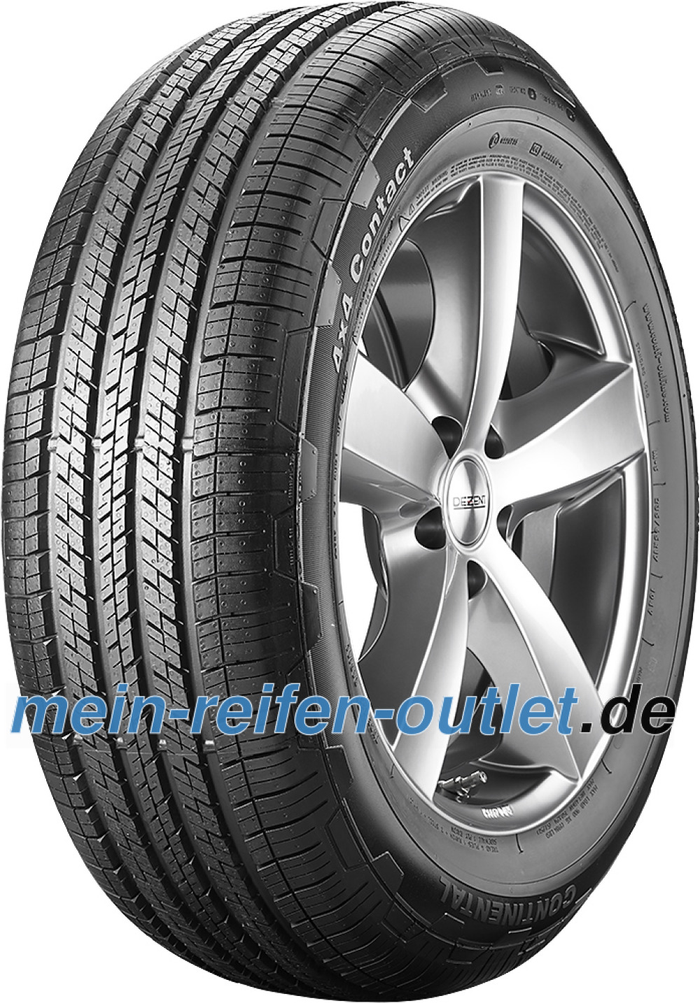 Continental 4X4 Contact ( 235/65 R17 104H , MO, mit Felgenrippe, mit Leiste )