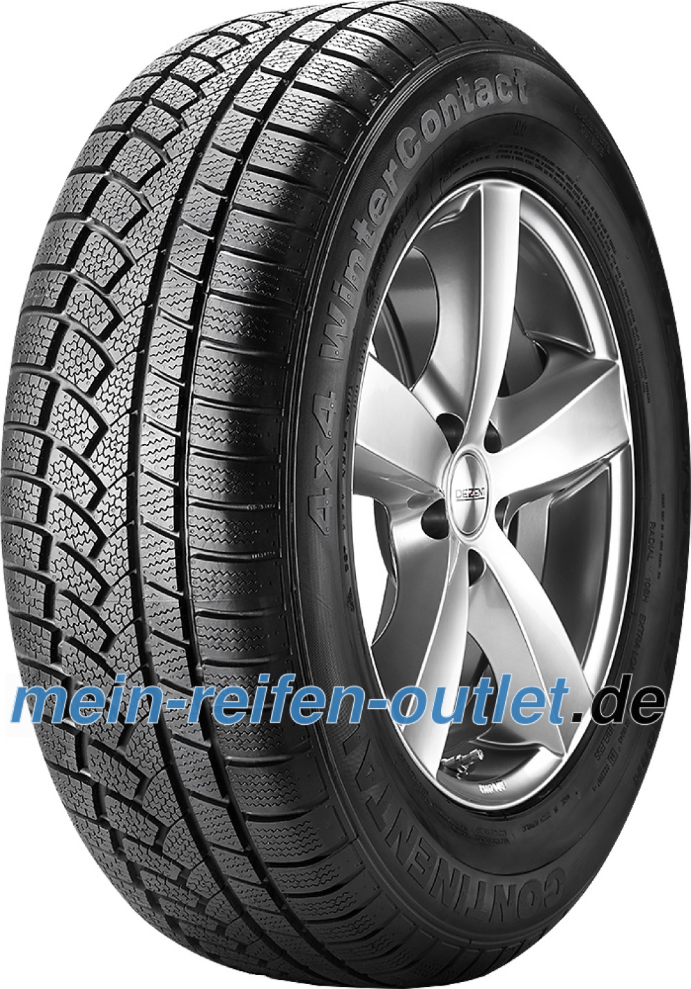 Continental 4X4 WinterContact ( 255/55 R18 105H mit Leiste, mit Felgenrippe, MO )