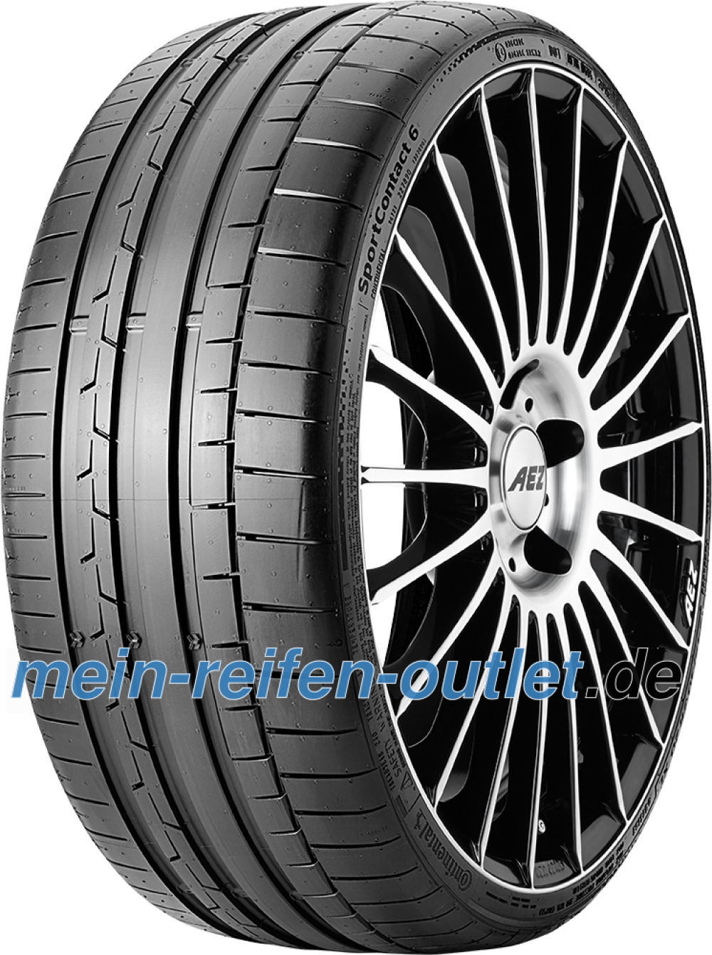 Continental SportContact 6 ( 225/40 R19 93Y XL mit Felgenrippe )