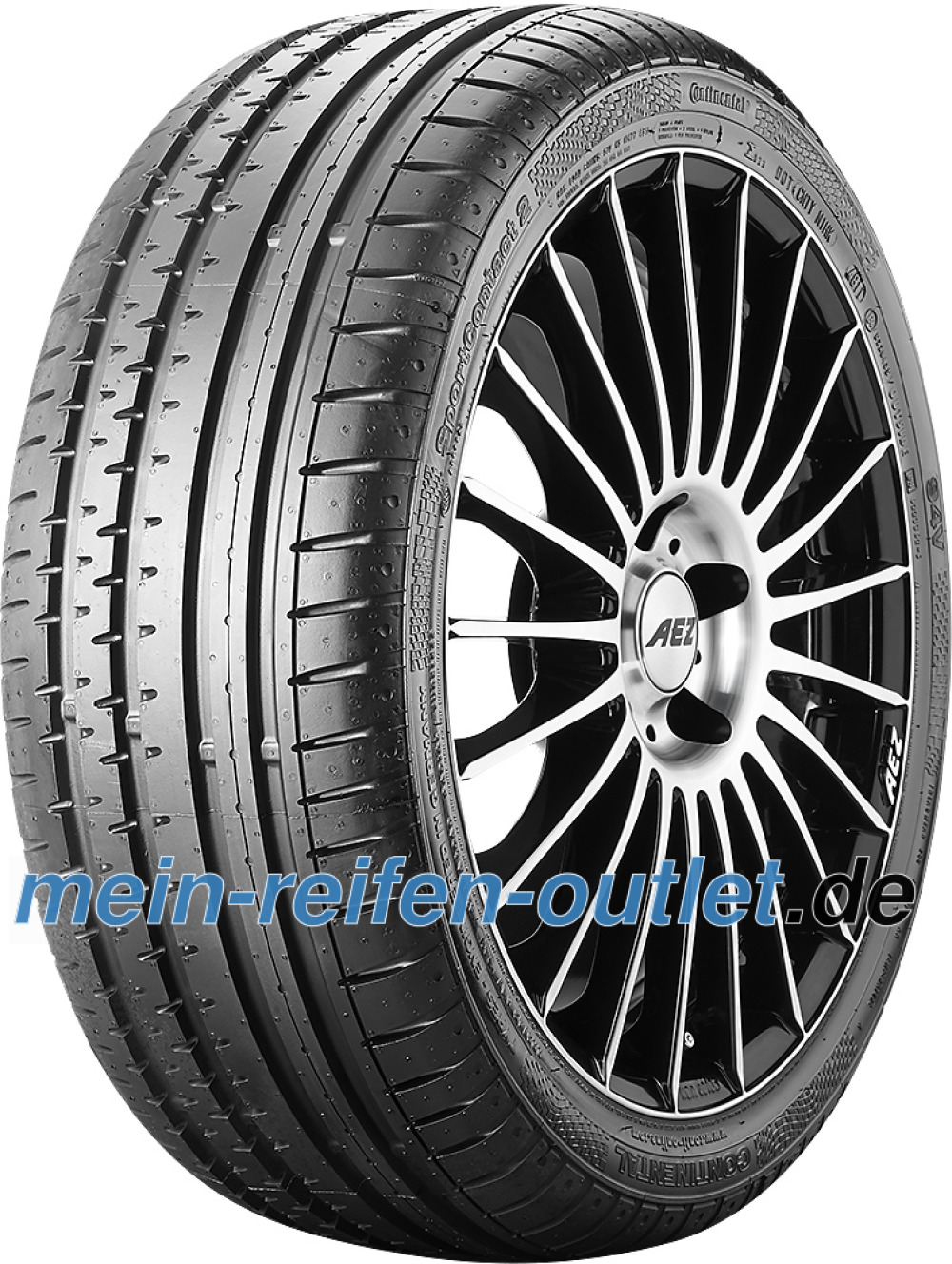 Continental SportContact 2 ( 225/40 ZR18 (88Y) N2, mit Felgenrippe )