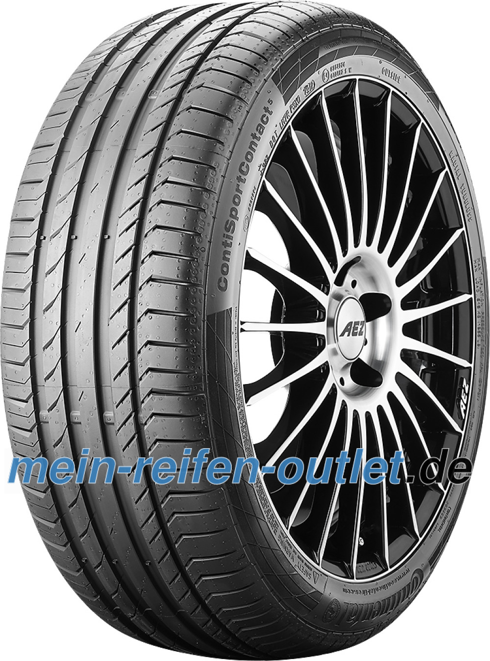 Continental ContiSportContact 5 ( 225/50 R17 94W AO, mit Felgenrippe )