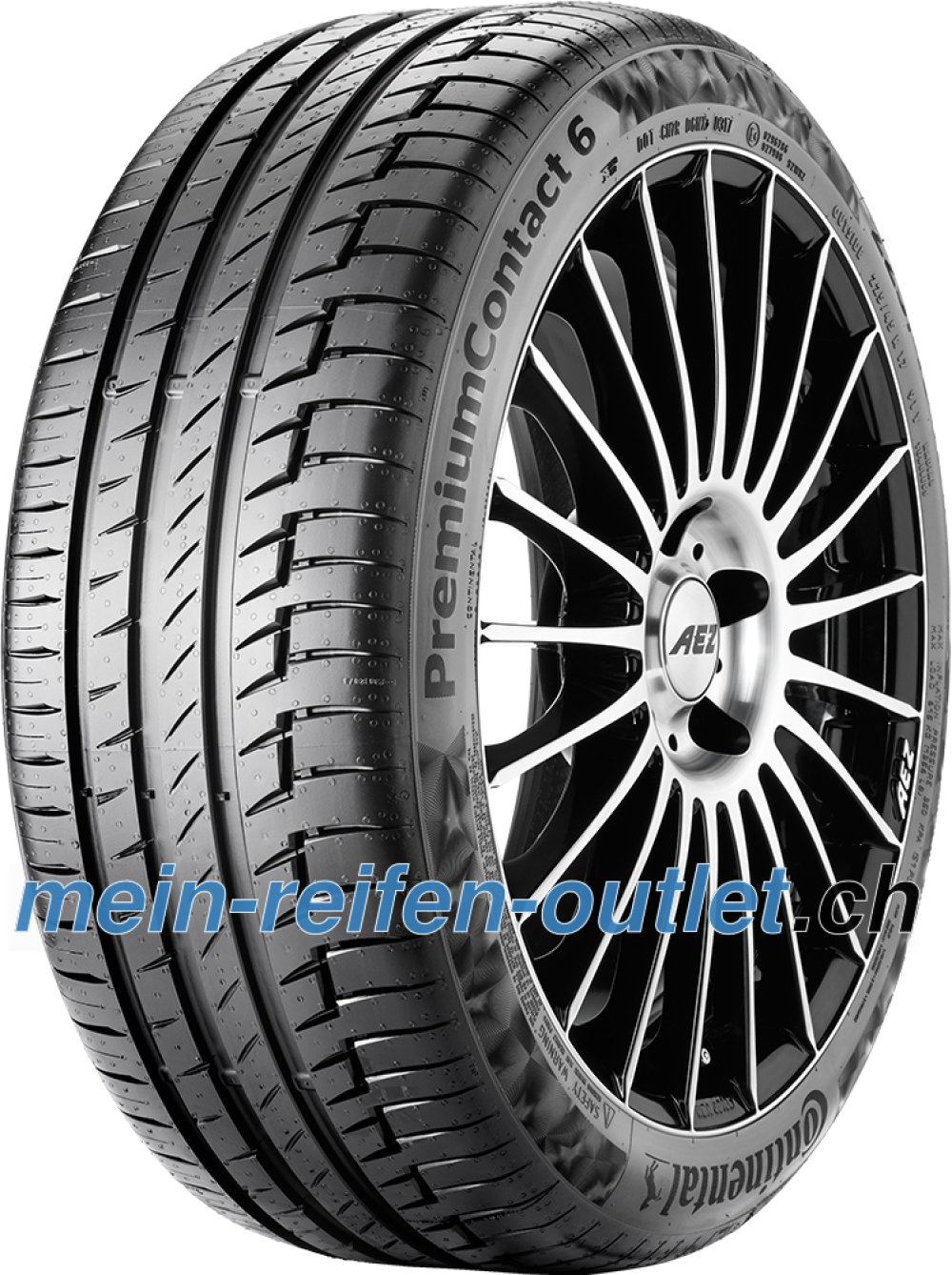 Continental PremiumContact 6 ( 225/45 R17 91V mit Felgenrippe )