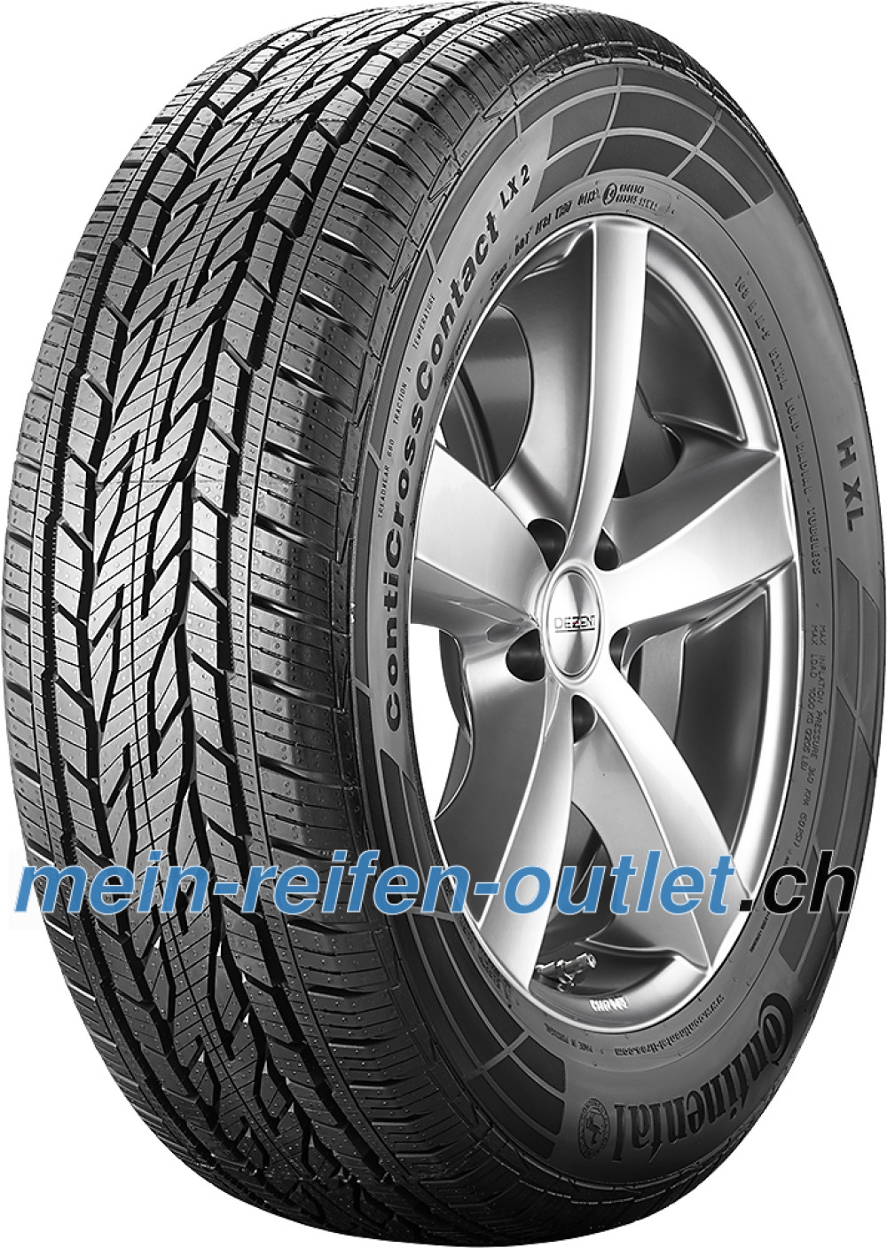 Continental ContiCrossContact LX 2 ( 265/65 R18 114H , mit Felgenrippe )