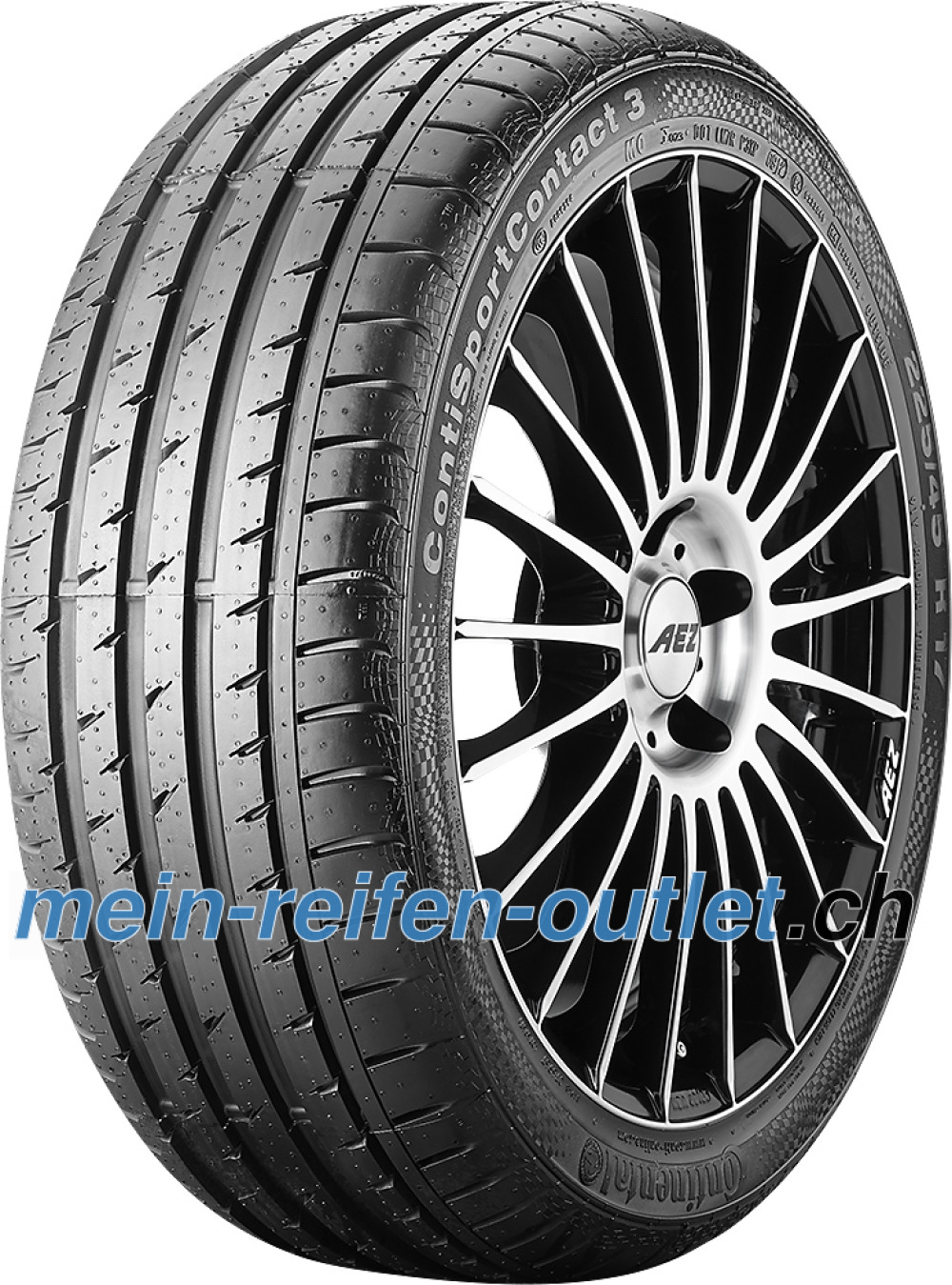 Continental ContiSportContact 3 ( 205/50 R17 89V mit Felgenrippe )