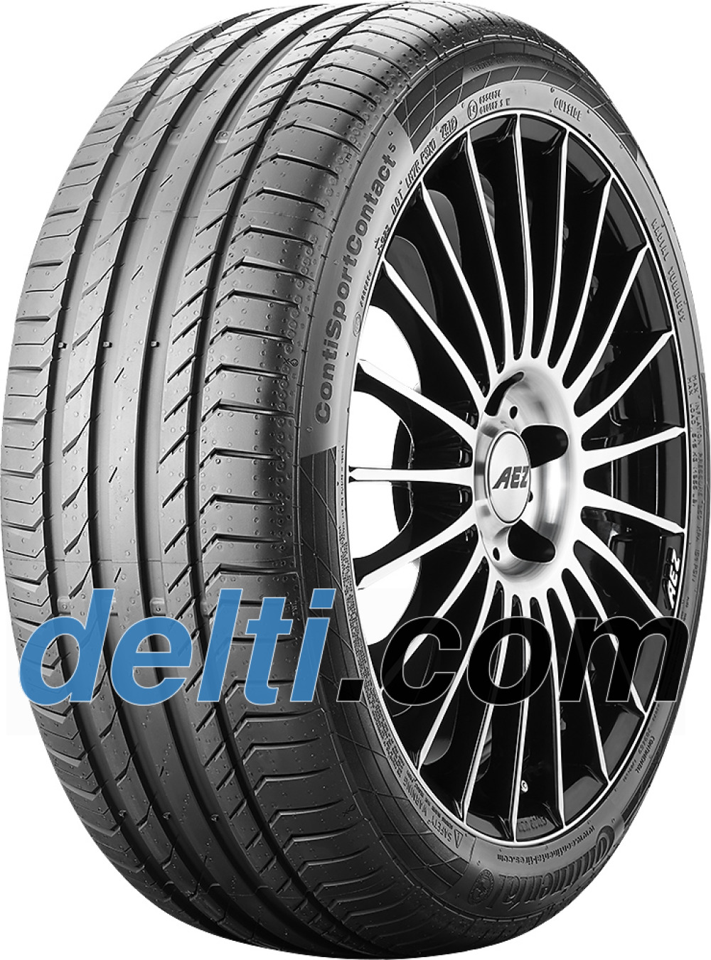 Continental ContiSportContact 5 ( 225/45 R19 92W med fälgskydd )