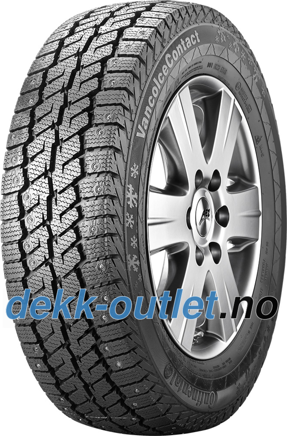 Continental Vanco Ice Contact ( 215/60 R17C 109/107R , med pigger )