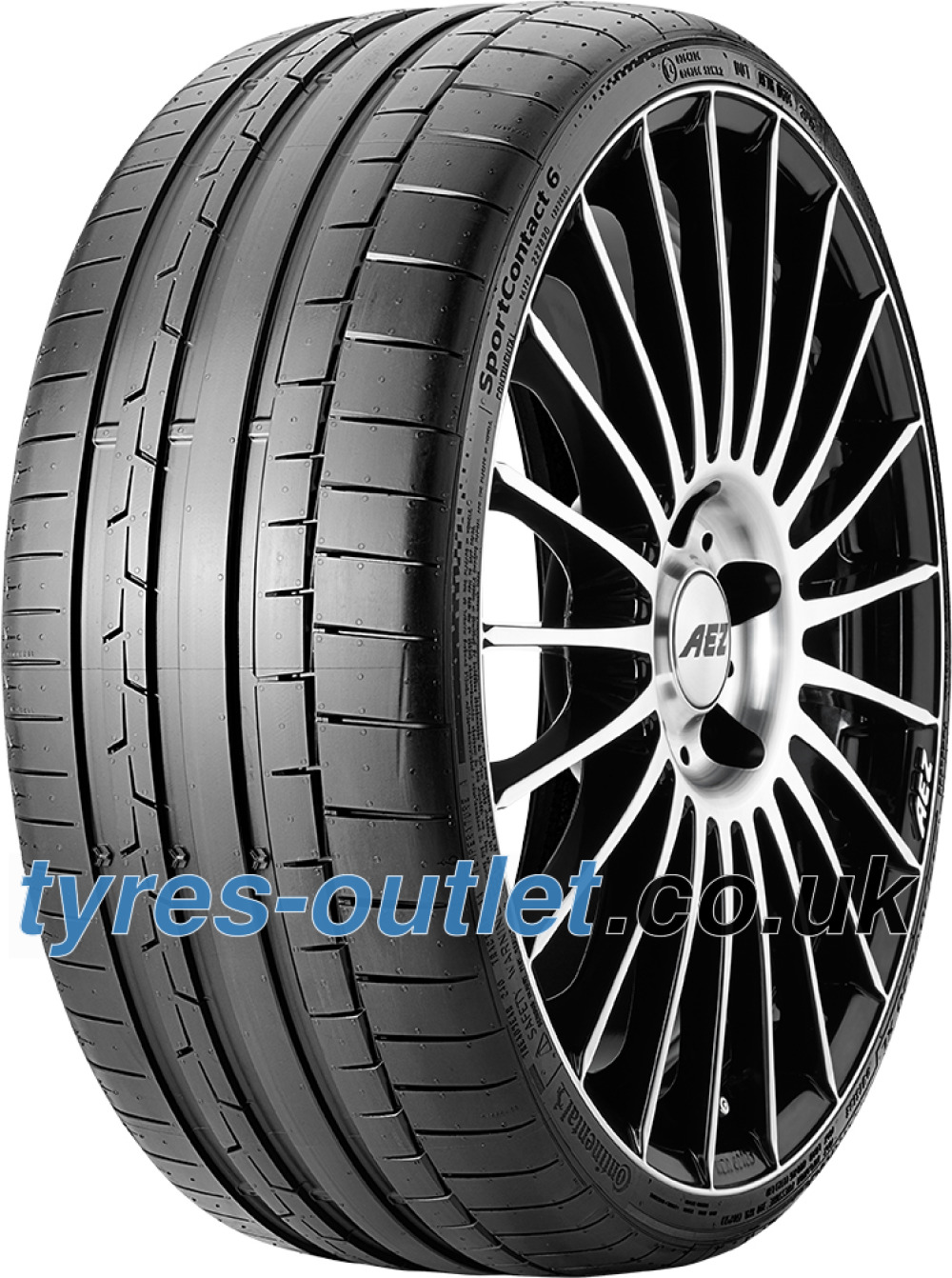 Continental SportContact 6 ( 225/40 R19 93Y XL with kerbing rib )