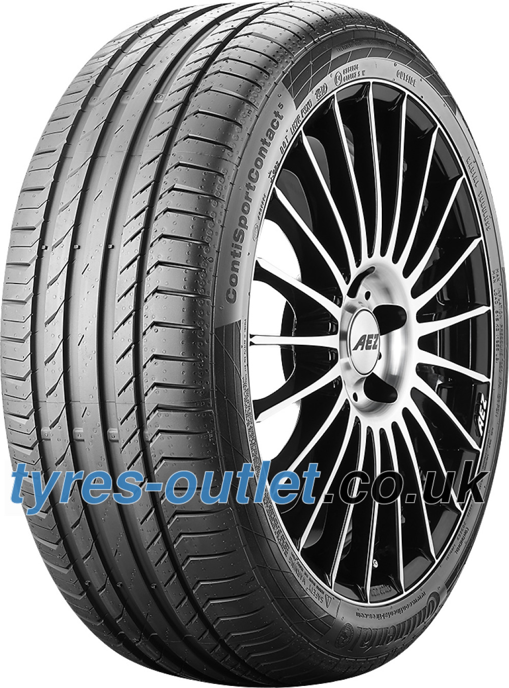 Continental ContiSportContact 5 ( 245/45 R18 96W Conti Seal, with kerbing rib )