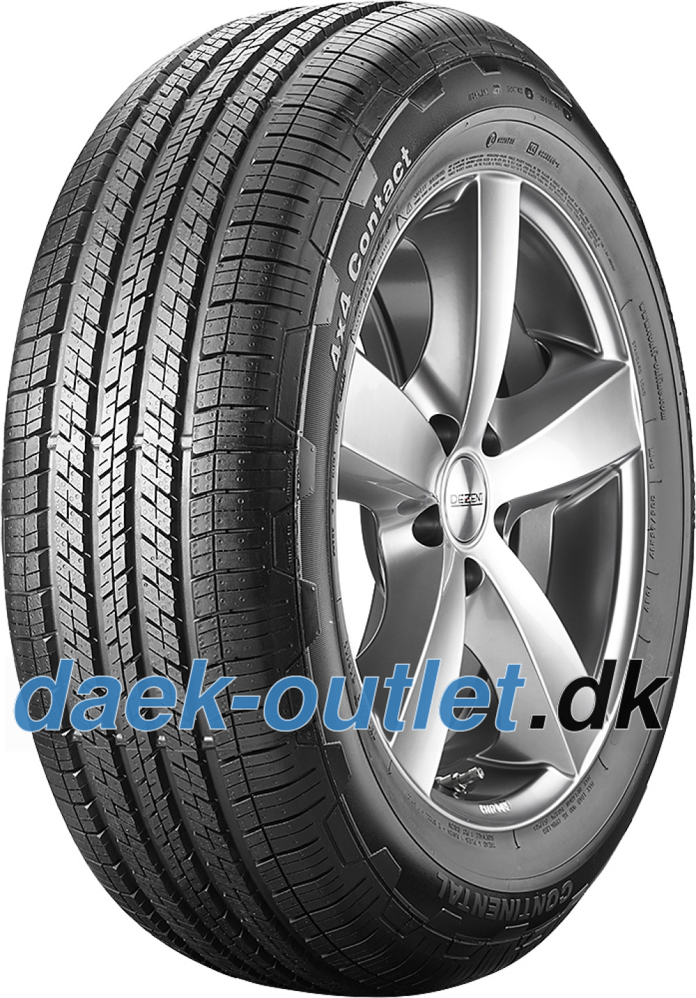 Continental 4X4 Contact ( 235/60 R18 103H ,Med fælgribbe )
