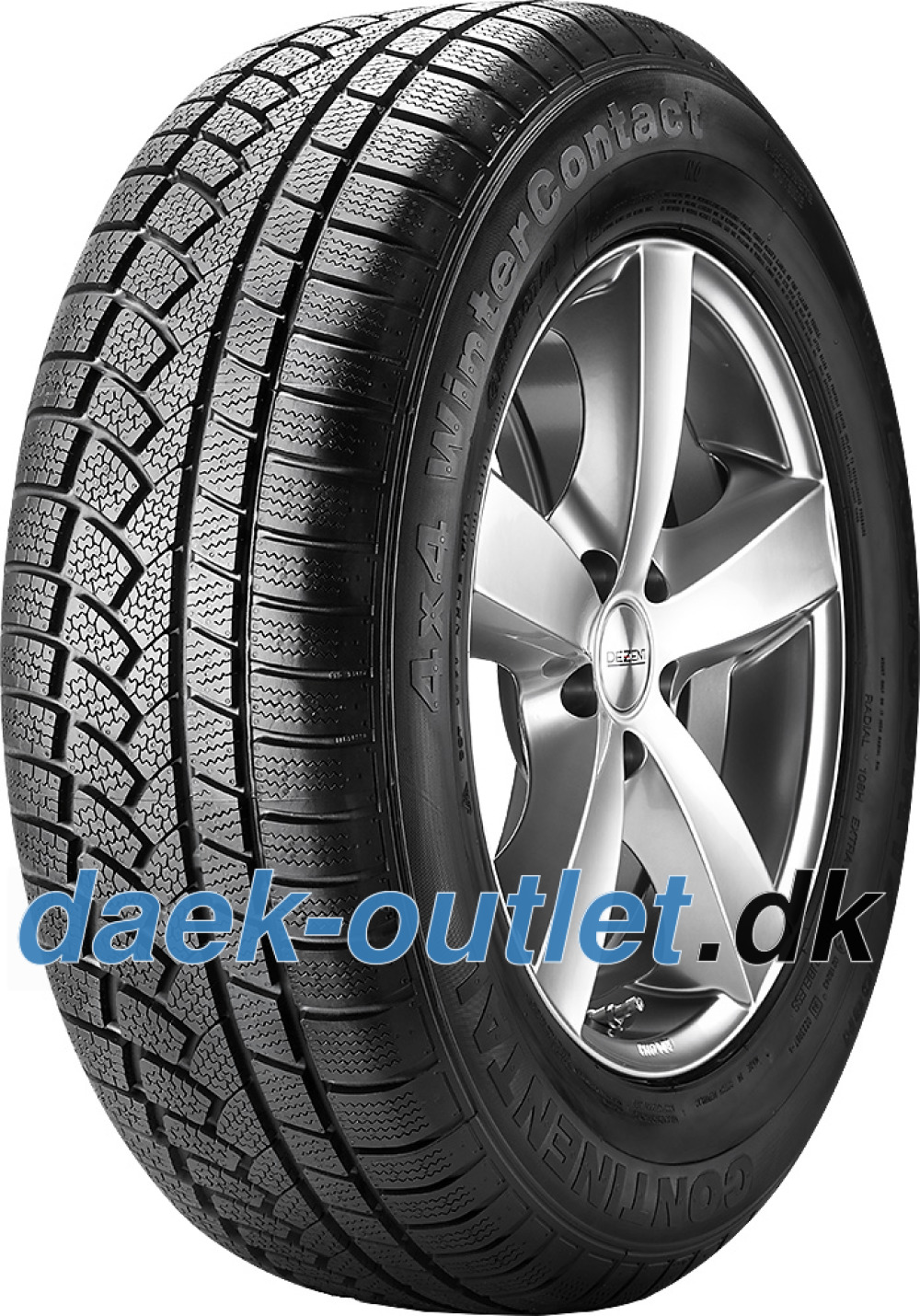 Continental 4X4 WinterContact ( 235/55 R17 99H Med fælgribbe, * )