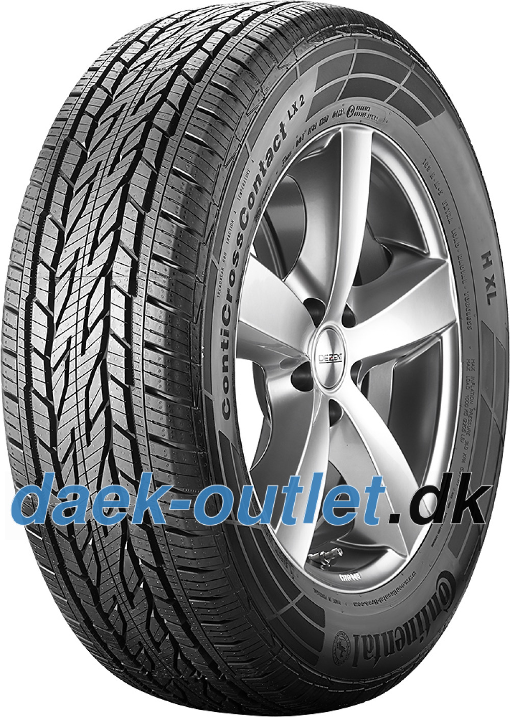 Continental ContiCrossContact LX 2 ( 215/60 R16 95H , Med fælgribbe )