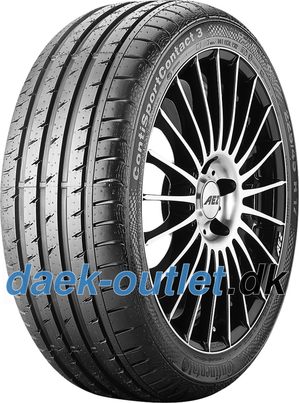 Continental ContiSportContact 3 ( 235/40 R19 96W XL Med fælgribbe )