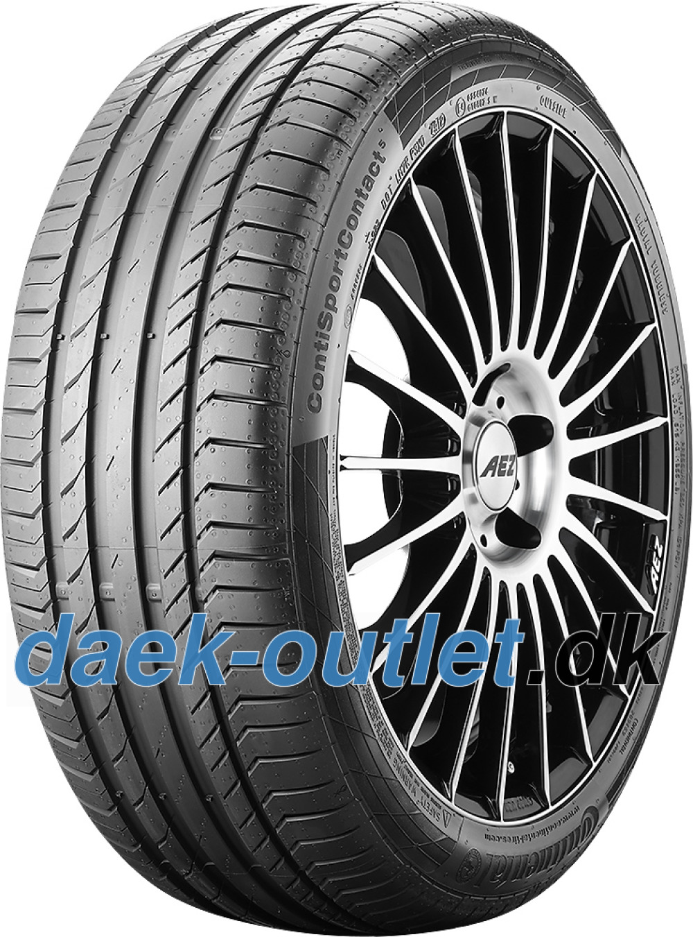 Continental ContiSportContact 5 ( 255/50 R20 109W XL LR, J, Med fælgribbe )
