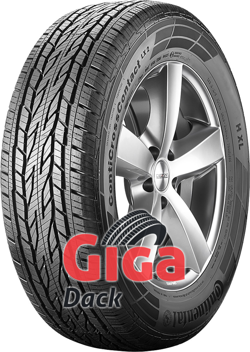 Continental ContiCrossContact LX 2 ( 215/60 R16 95H , med fälgskydd )