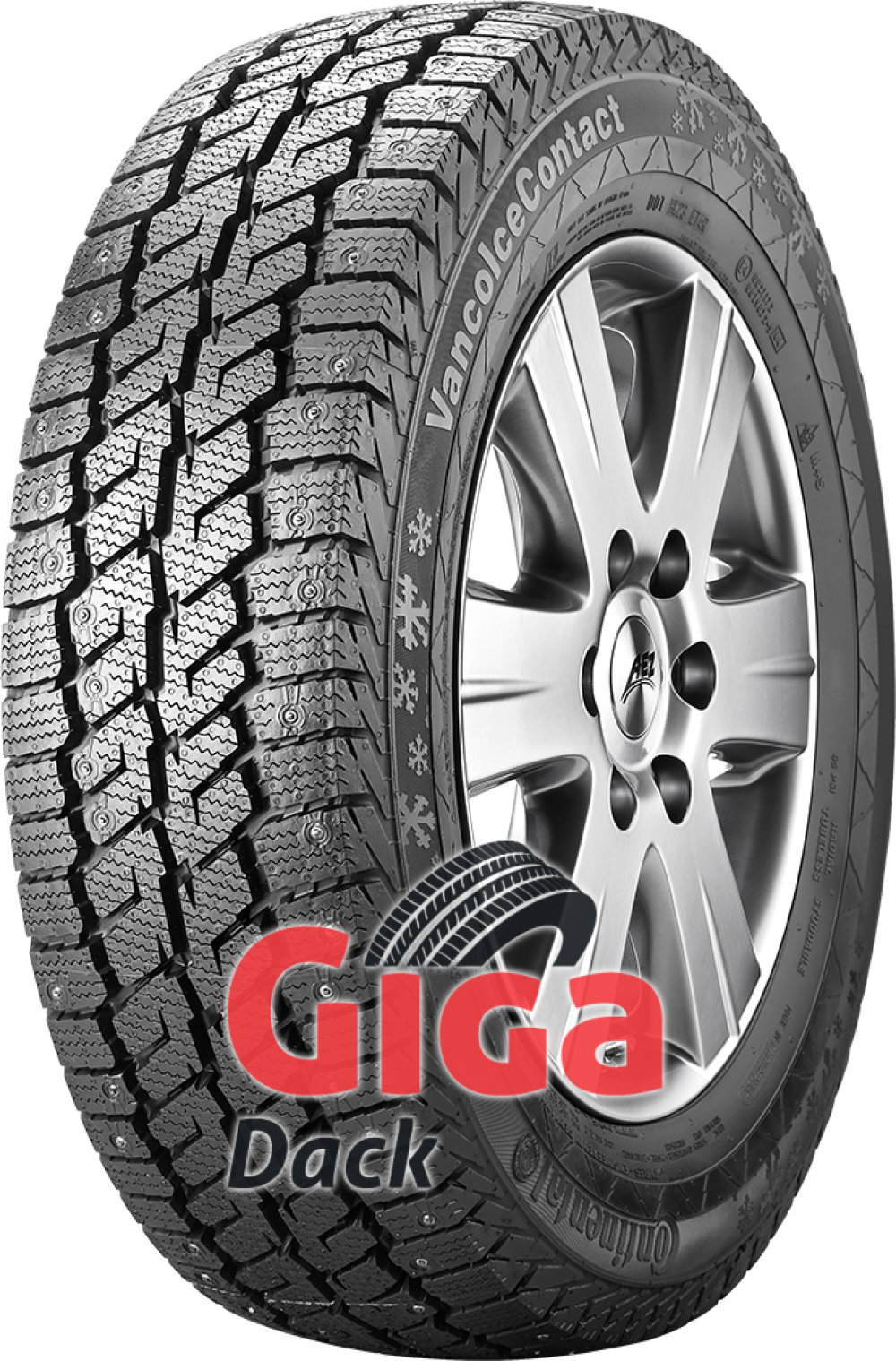 Continental Vanco Ice Contact ( 195/65 R16 104/102R Dubbade )