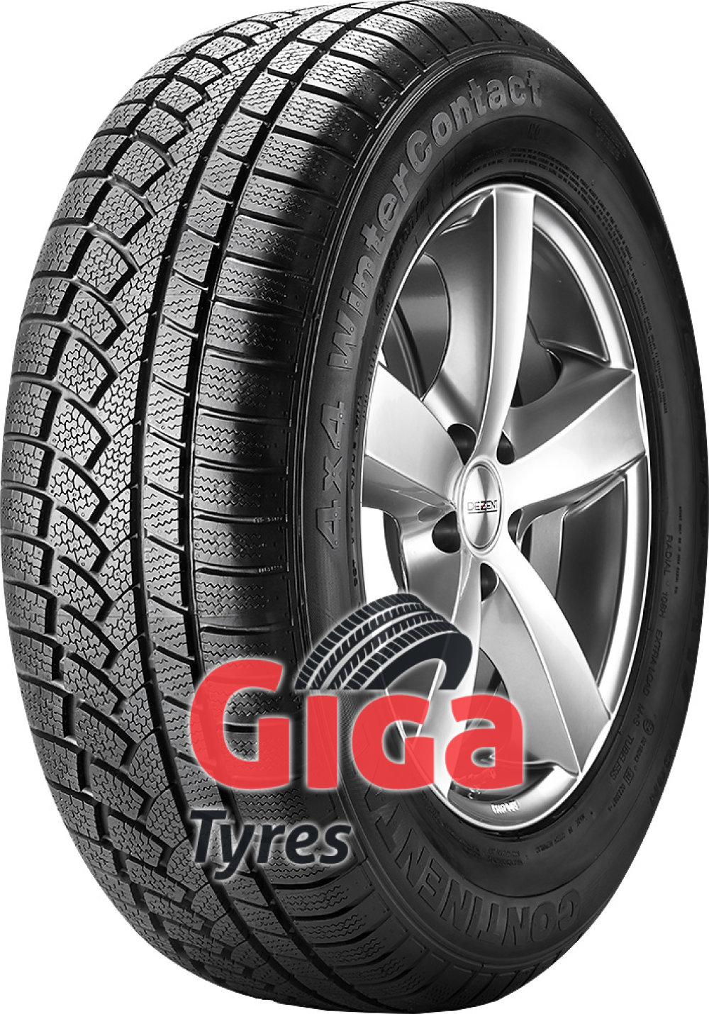 Continental 4X4 WinterContact ( 235/65 R17 104H , MO, with ridge  )