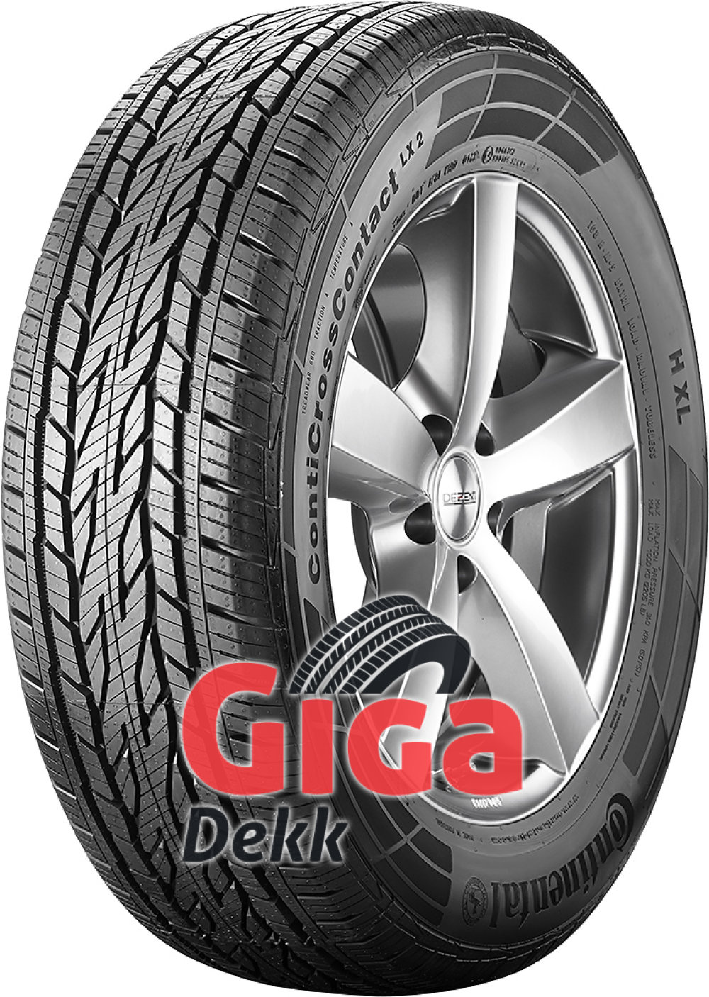 Continental ContiCrossContact LX 2 ( 225/65 R17 102H med felgkant )