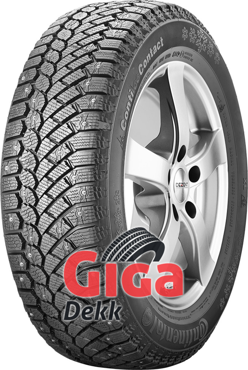 Continental ContiIceContact ( 155/70 R13 75T , med pigger )