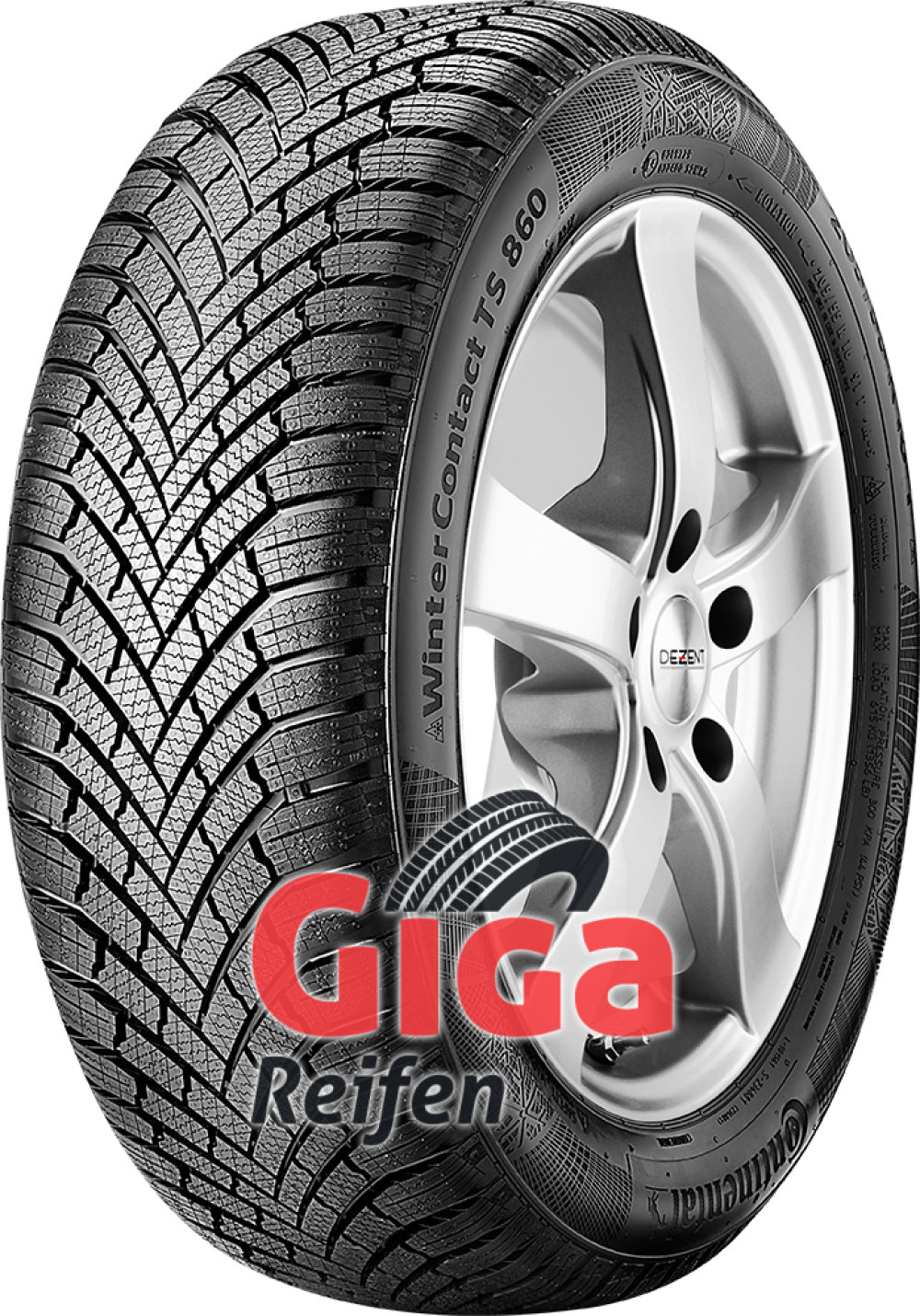 Continental WinterContact TS 860 ( 205/55 R16 91H , mit Felgenrippe )