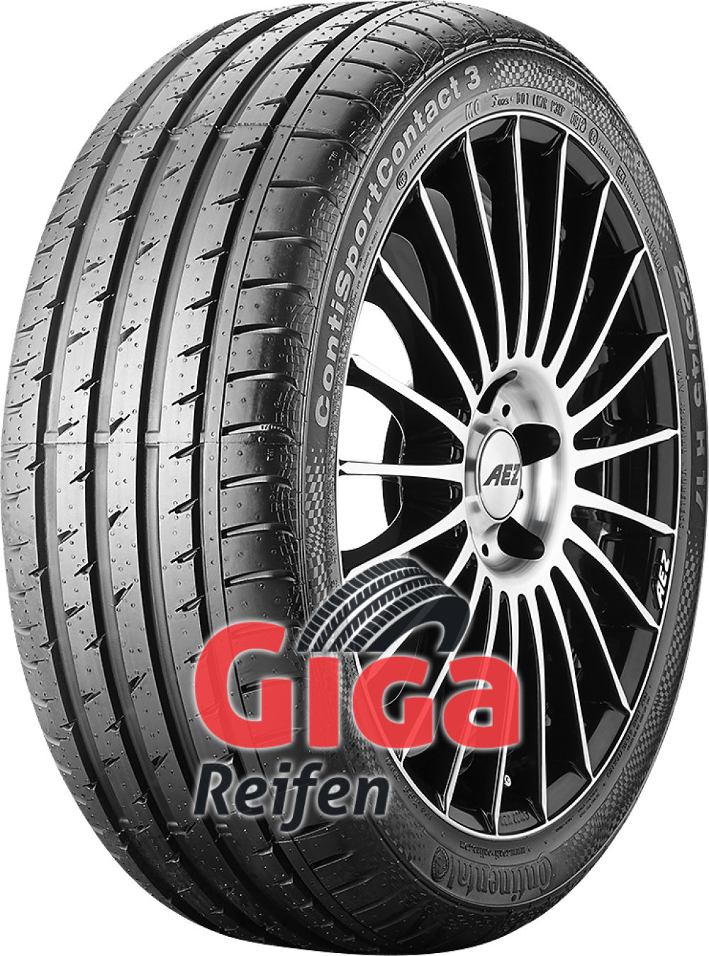Continental ContiSportContact 3 ( 245/45 R17 95W MO, mit Felgenrippe, mit Leiste )