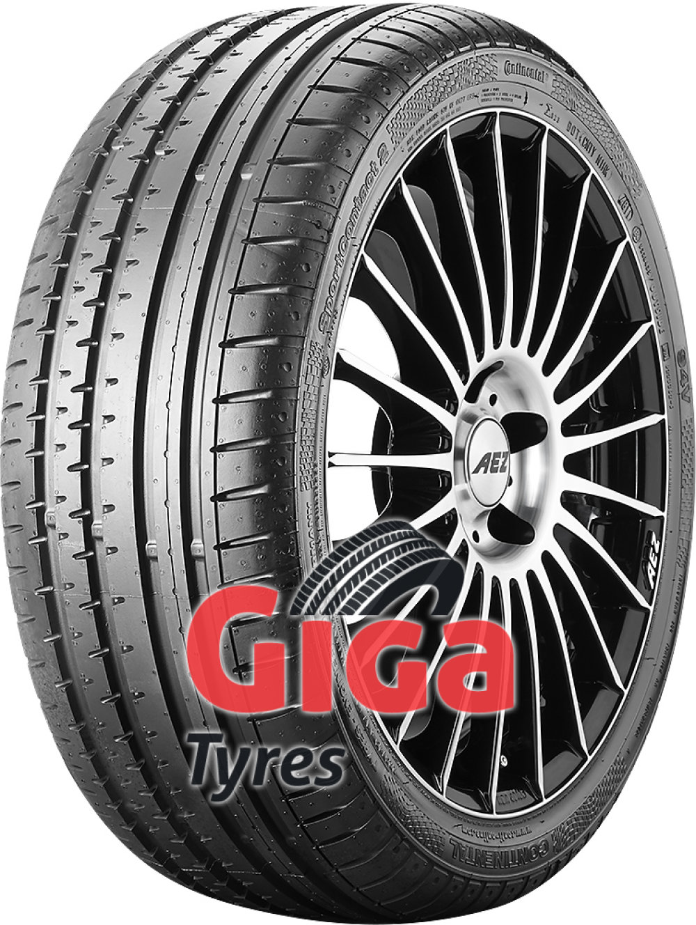 Continental SportContact 2 SSR ( 225/45 R17 91V with kerbing rib, runflat, * )