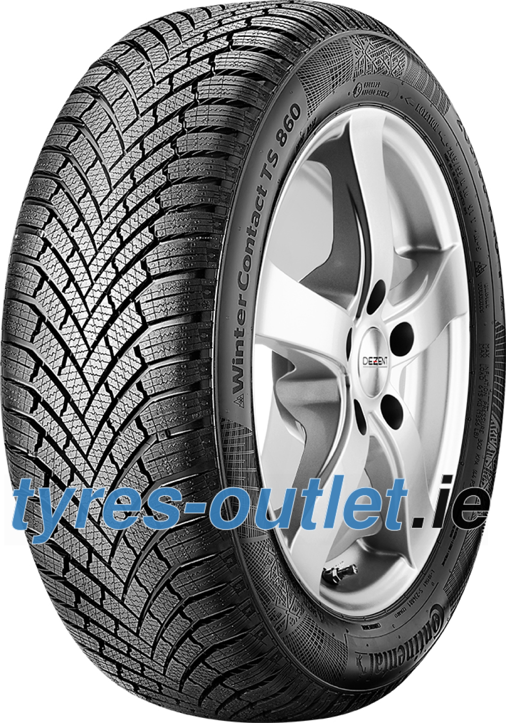 Continental WinterContact TS 860 ( 225/45 R17 91H , with kerbing rib )