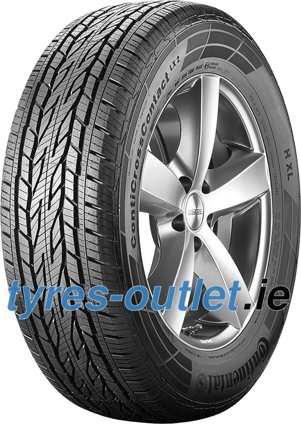 Continental ContiCrossContact LX 2 ( 215/60 R17 96H with kerbing rib )
