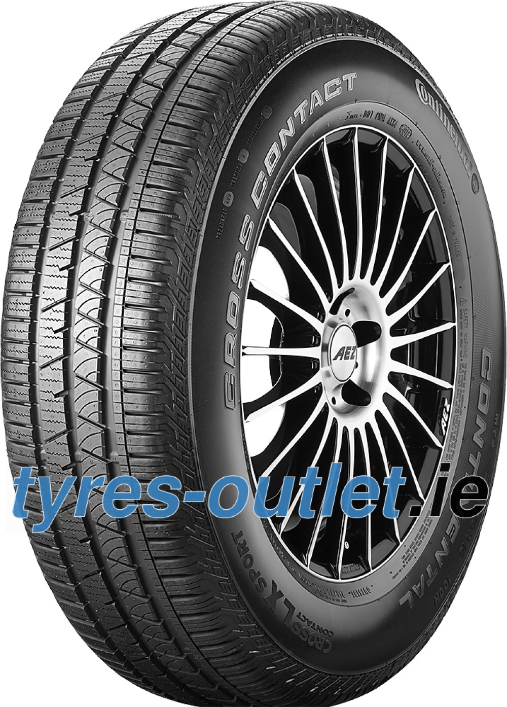 Continental ContiCrossContact LX Sport ( 255/50 R20 105T , with kerbing rib )
