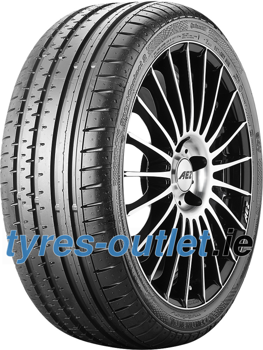 Continental SportContact 2 ( 205/45 R16 83V with kerbing rib )