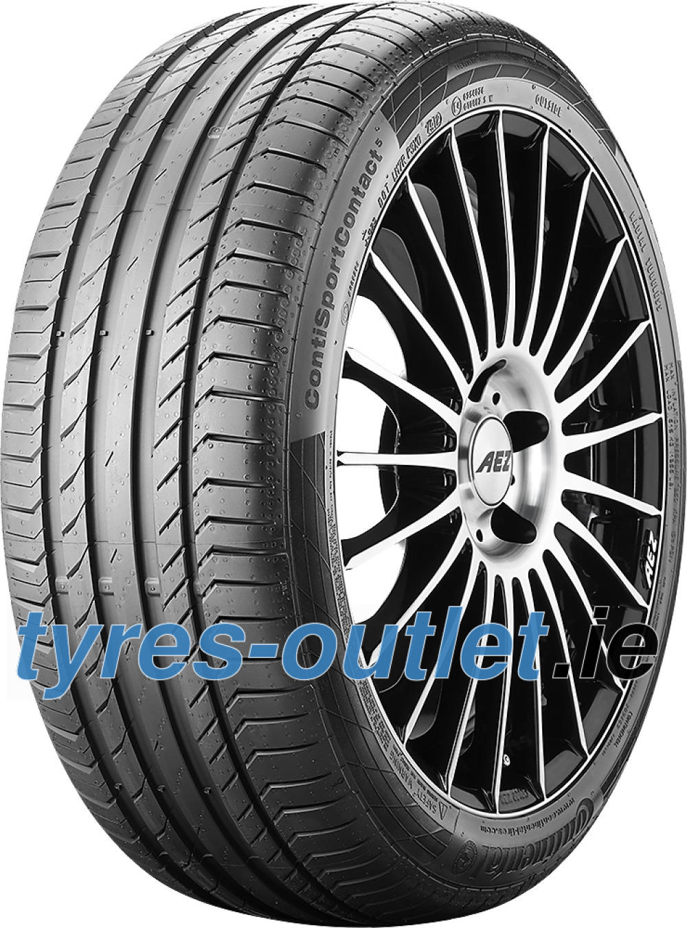 Continental ContiSportContact 5 ( 245/50 ZR18 (100Y) N0, with kerbing rib )