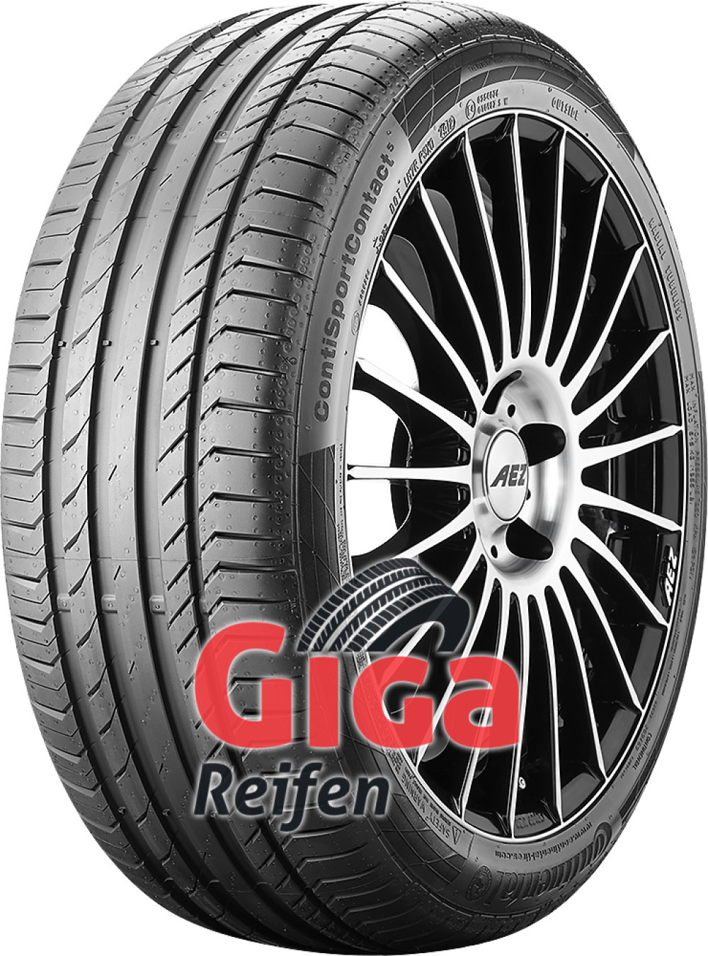 Continental ContiSportContact 5 ( 225/45 R18 95Y XL mit Felgenrippe,*,runflat )