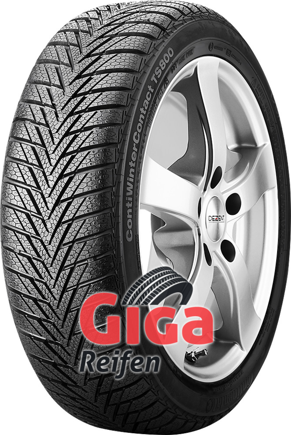 Continental ContiWinterContact TS 800 ( 155/60 R15 74T , mit Felgenrippe )