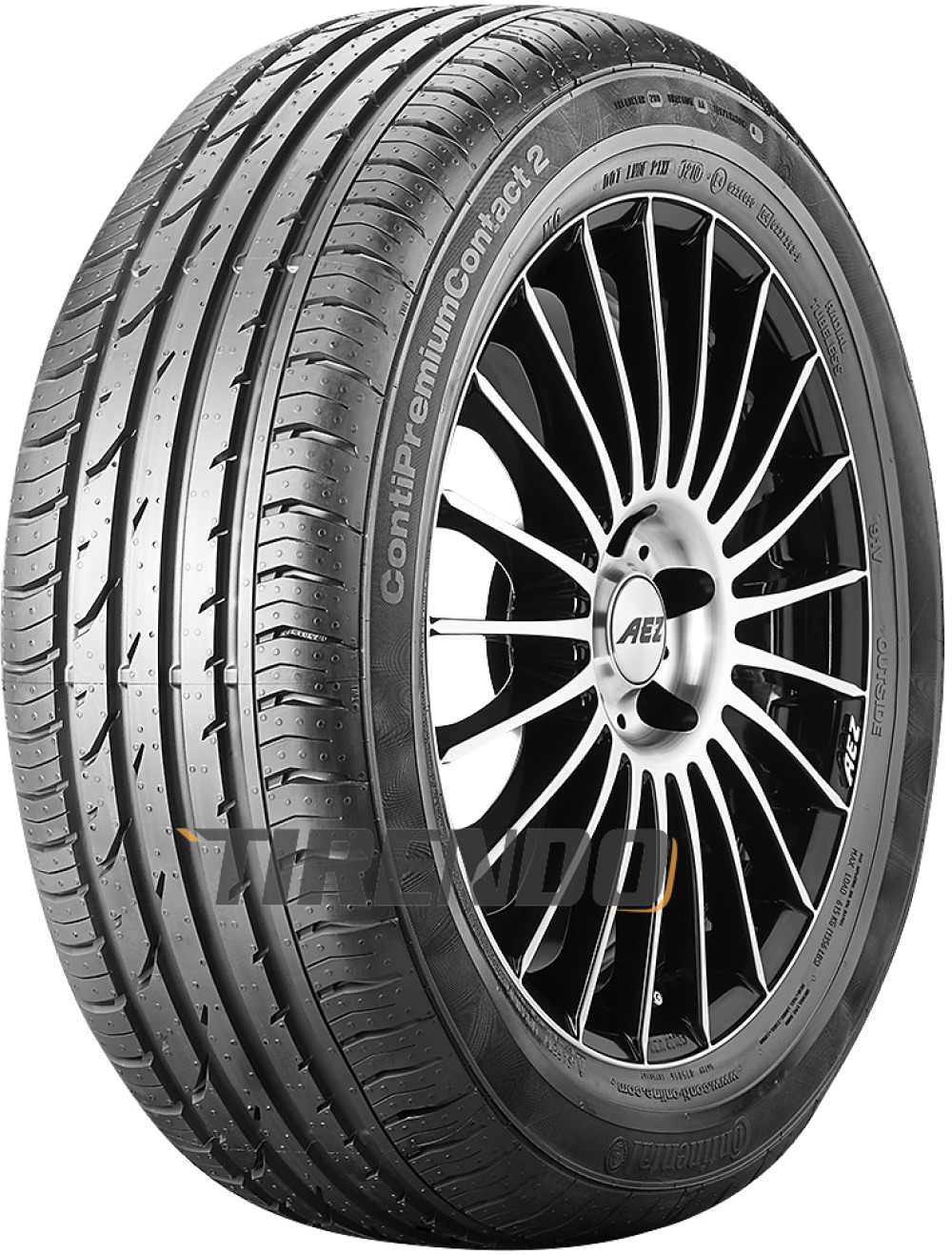 Continental PremiumContact 2 ( 205/50 R17 89H mit Felgenrippe )