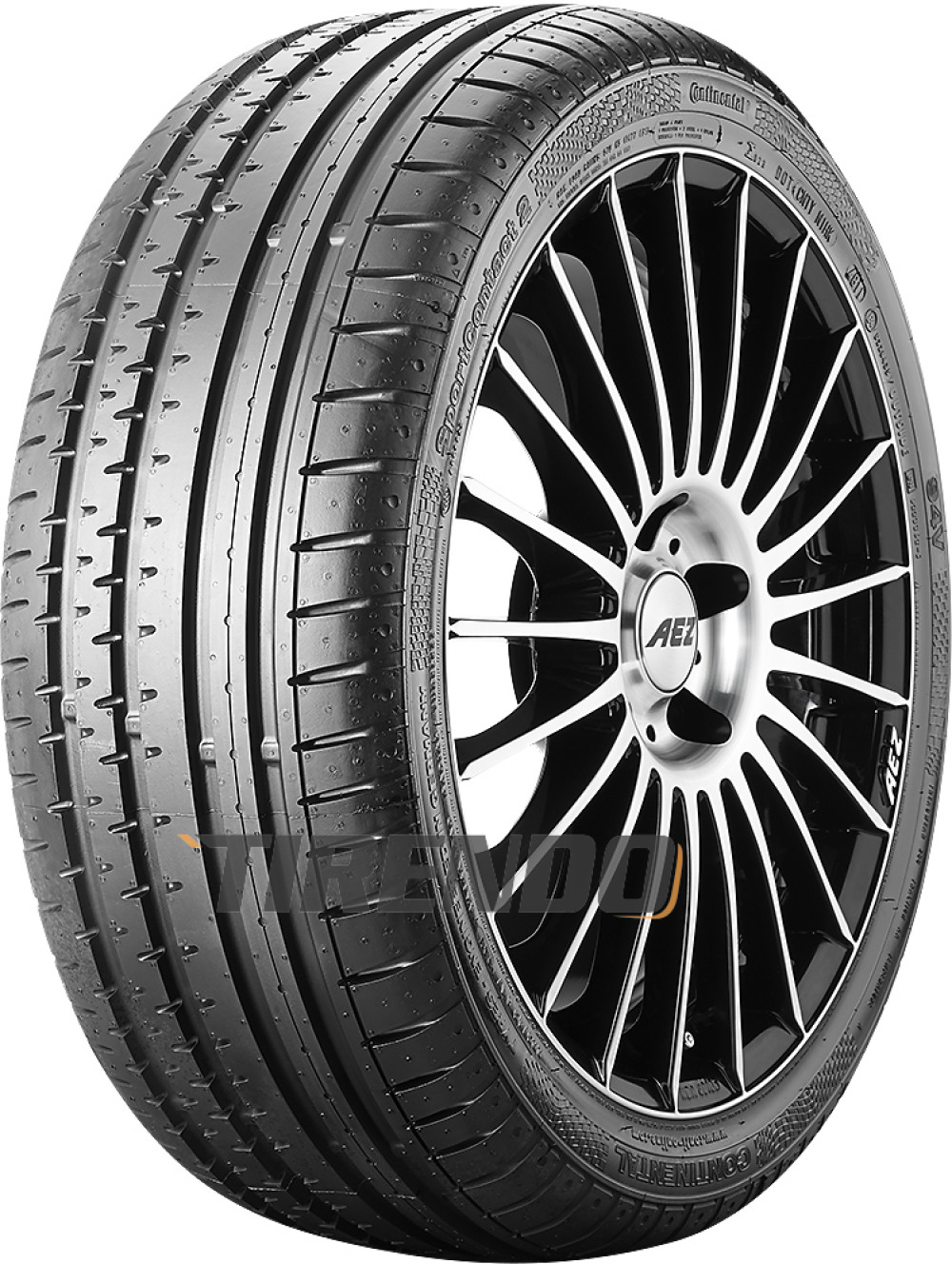 Continental SportContact 2 ( 225/50 R17 98Y XL AO, mit Felgenrippe )